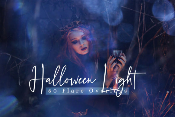 60 Halloween Lights Effect Photo Overlay Graphic By 3Motional