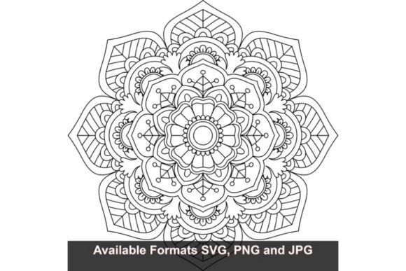 Download Free Mandala Art 45 Graphic Graphic By Iwantto Us Creative Fabrica for Cricut Explore, Silhouette and other cutting machines.