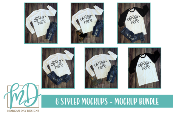 Print on Demand: Mockup Bundle Graphic Product Mockups By Morgan Day Designs