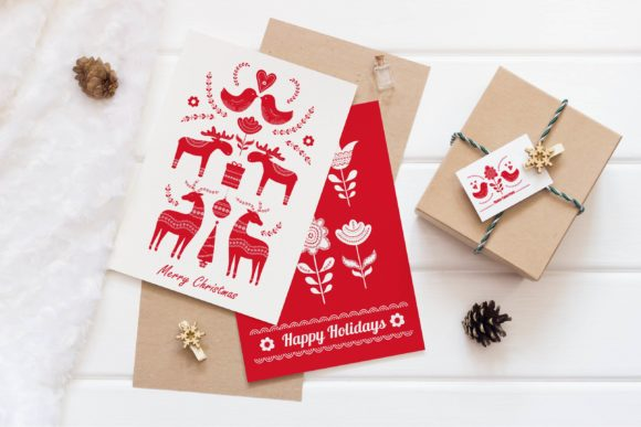 Download Free Scandinavian Christmas Pack Graphic By Alisovna Creative Fabrica for Cricut Explore, Silhouette and other cutting machines.