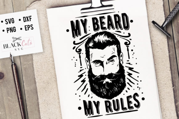 Download Free My Beard My Rules Svg Graphic By Blackcatsmedia Creative Fabrica for Cricut Explore, Silhouette and other cutting machines.