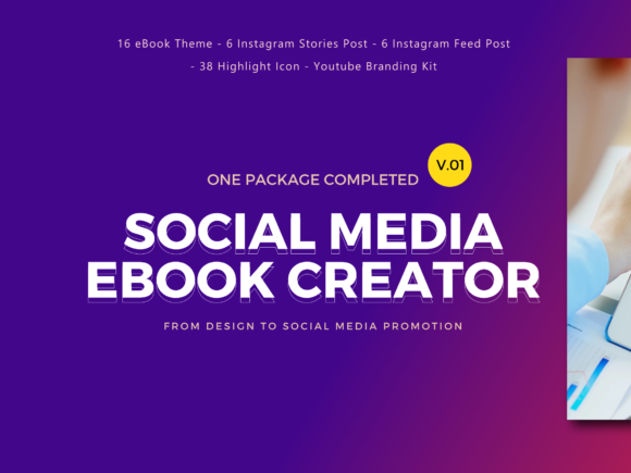 Download Free Social Media Marketing Ebook Template Graphic By Rivatxfz SVG Cut Files
