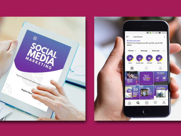 Download Free Social Media Marketing Ebook Template Graphic By Rivatxfz for Cricut Explore, Silhouette and other cutting machines.