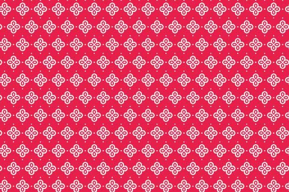 Print on Demand: Digital Paper Red White Pattern Graphic Backgrounds By GraphicsFarm
