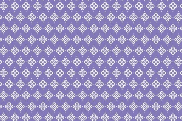 Print on Demand: Digital Paper Purple White Pattern Graphic Backgrounds By GraphicsFarm