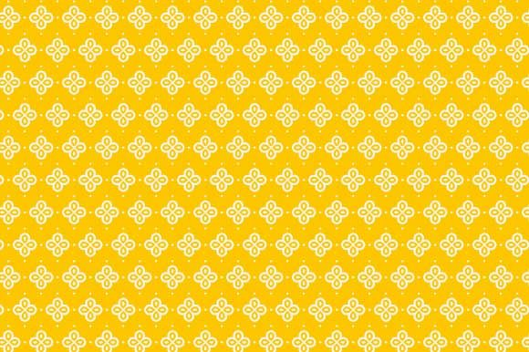 Print on Demand: Digital Paper Yellow White Pattern Graphic Backgrounds By GraphicsFarm