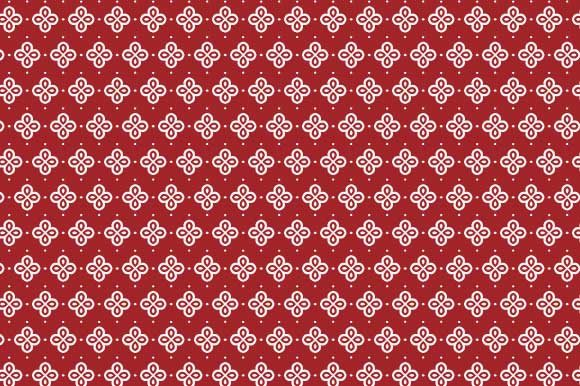 Print on Demand: Digital Paper Dark Red White Pattern Graphic Backgrounds By GraphicsFarm