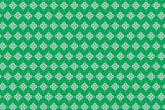 Print on Demand: Digital Paper Green White Pattern Graphic Backgrounds By GraphicsFarm