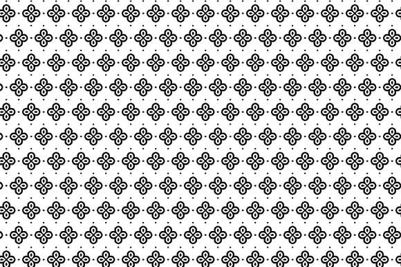 Print on Demand: Digital Paper White Black Pattern Graphic Backgrounds By GraphicsFarm