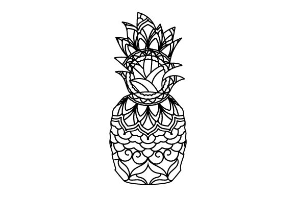 Download Free Pineapple Mandala Style Svg Cut File By Creative Fabrica for Cricut Explore, Silhouette and other cutting machines.