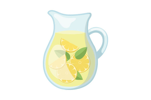 Pitcher of Lemonade Summer Craft Cut File By Creative Fabrica Crafts