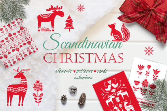 Scandinavian Christmas Pack Graphic Illustrations By Alisovna