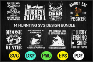 14 Hunting Svg Design Bundle,hunting Svg Gráfico Por BDstudio