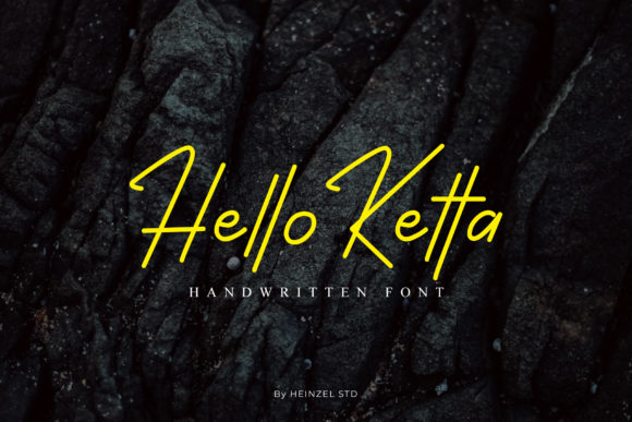 Print on Demand: Hello Ketta Display Font By Heinzel Std