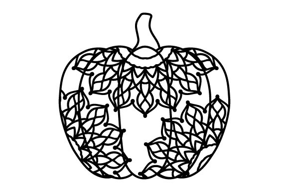 Download Free Pumpkin Mandala Style Svg Cut File By Creative Fabrica Crafts for Cricut Explore, Silhouette and other cutting machines.