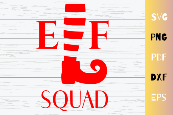Download Free Elf Squad Cut File Cricut Graphic By Mockup Venue Creative Fabrica for Cricut Explore, Silhouette and other cutting machines.