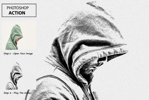 Note Paper Sketch - Photoshop Action Graphic Actions & Presets By iTraitArt
