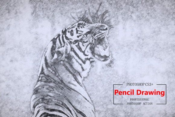 Pencil Drawing 1 - Photoshop Action Graphic Actions & Presets By iTraitArt