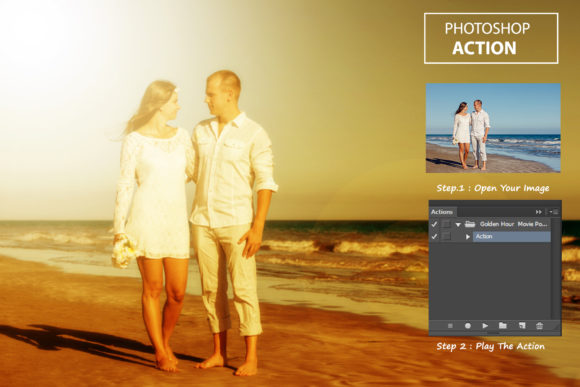 Download Free Golden Hour Movie Poste Ps Action Graphic By Itraitart for Cricut Explore, Silhouette and other cutting machines.