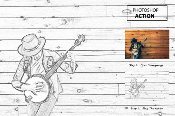 Photo Sketch - Photoshop Action Graphic Actions & Presets By iTraitArt