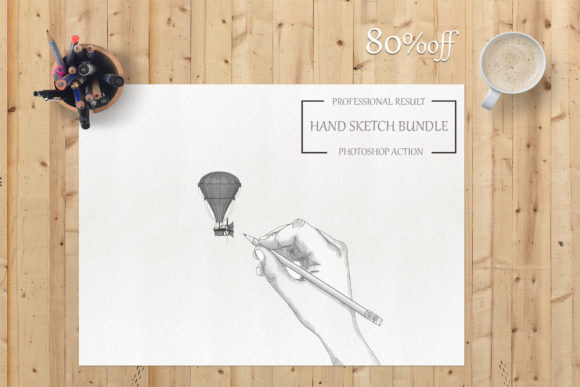 Sketch Actions Bundle - Ps Action Graphic Actions & Presets By iTraitArt