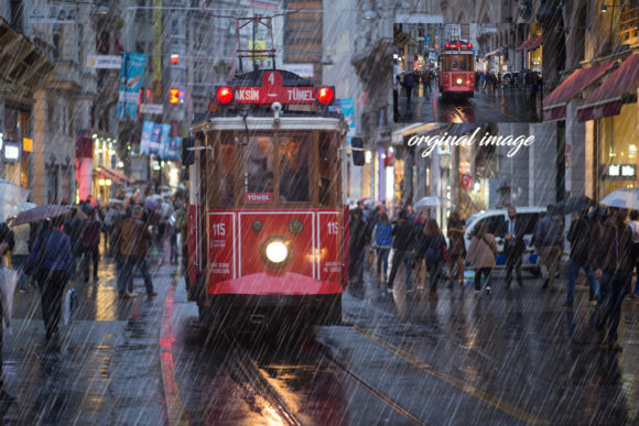 Download Free Raining Photoshop Action Graphic By Itraitart Creative Fabrica for Cricut Explore, Silhouette and other cutting machines.