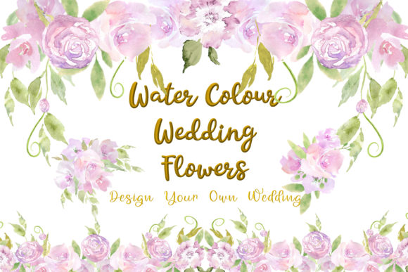 Print on Demand: Water Colour Wedding Flowers Clipart Kit Graphic Illustrations By The Paper Princess