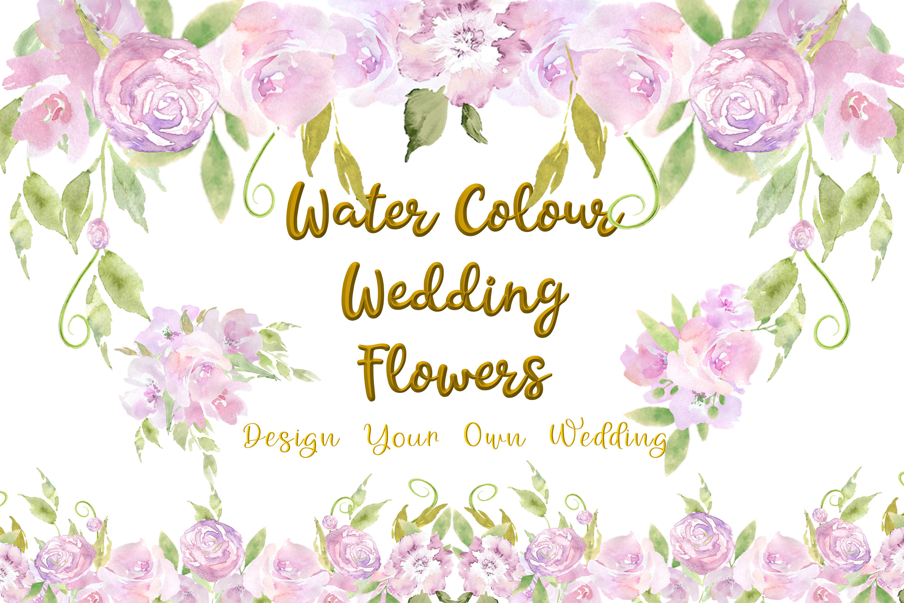 Download Free Water Colour Wedding Flowers Clipart Kit Graphic By The Paper for Cricut Explore, Silhouette and other cutting machines.