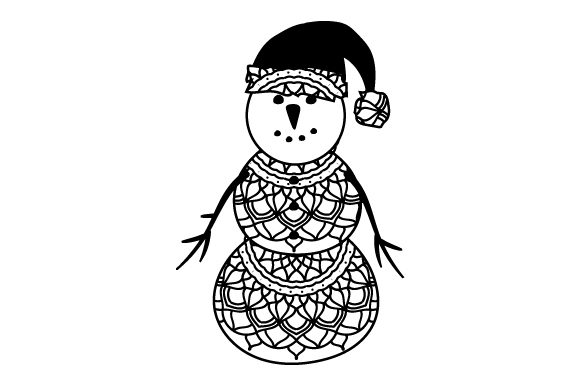 Snowman Mandala Style Svg Cut File By Creative Fabrica Crafts