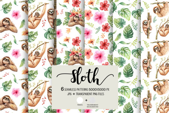 Sloth. Animals Watercolor Cliparts. Graphic By SapG Art Image 3