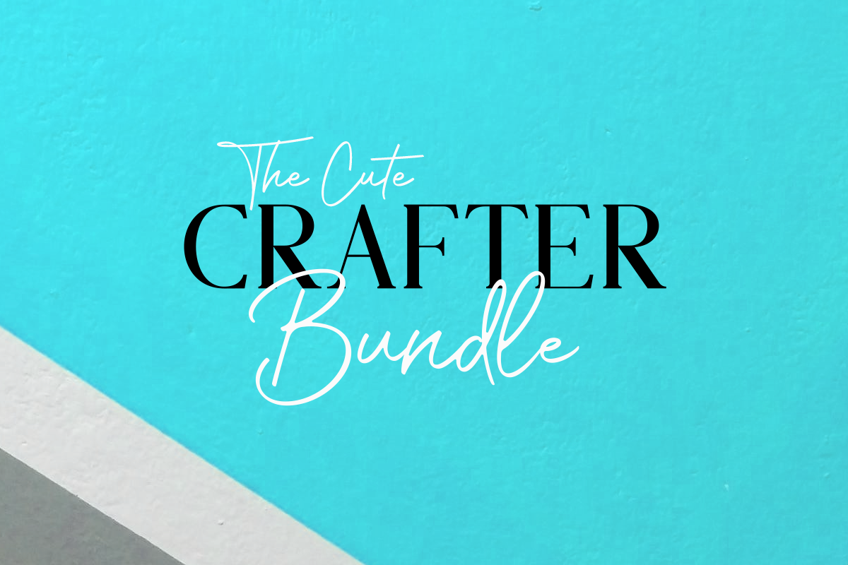 Download Free The Cute Crafter Bundle Bundle Creative Fabrica for Cricut Explore, Silhouette and other cutting machines.