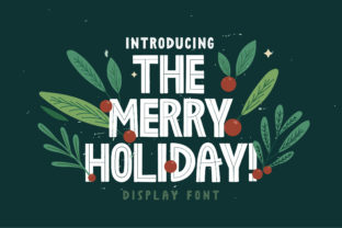 The Merry Holiday Display Font By Caoca Studios