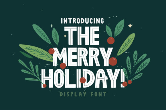 Print on Demand: The Merry Holiday Display Font By Caoca Studios
