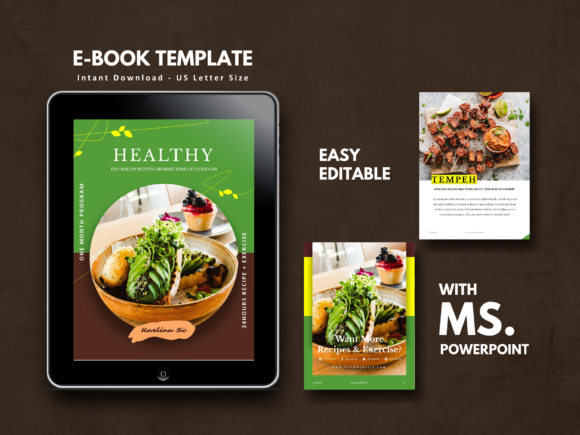 Recipe Vegetarian Theme Cookbook Templat Graphic By rivatxfz