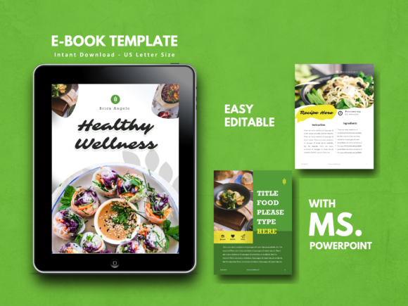 Recipe Vegan Theme Book Template Graphic By rivatxfz
