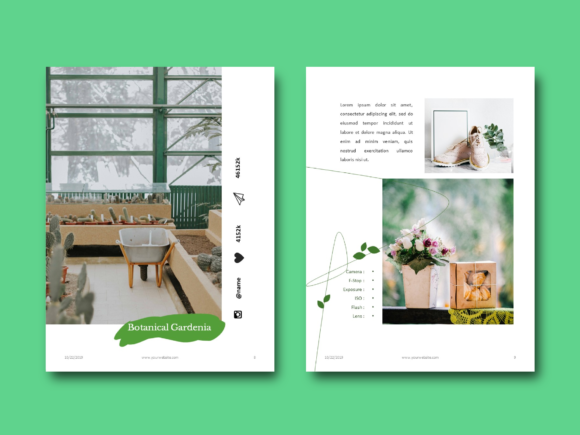 Download Free Botanical Photography Portfolio Ebook Graphic By Rivatxfz for Cricut Explore, Silhouette and other cutting machines.