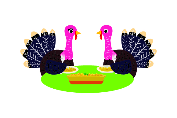 Download Free Turkeys Eating At A Table Svg Cut File By Creative Fabrica for Cricut Explore, Silhouette and other cutting machines.