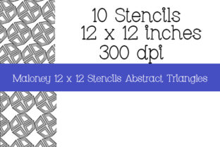 Print on Demand: Stencils Abstract Triangles 12 X 12 in Graphic Patterns By Kathryn Maloney 4