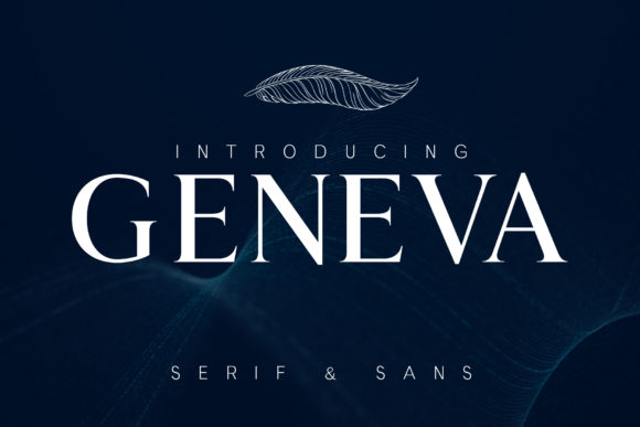 Print on Demand: Geneva Serif Font By denestudios
