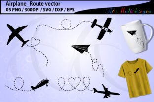 Print on Demand: Airplane Route Graphic Illustrations By Arcs Multidesigns