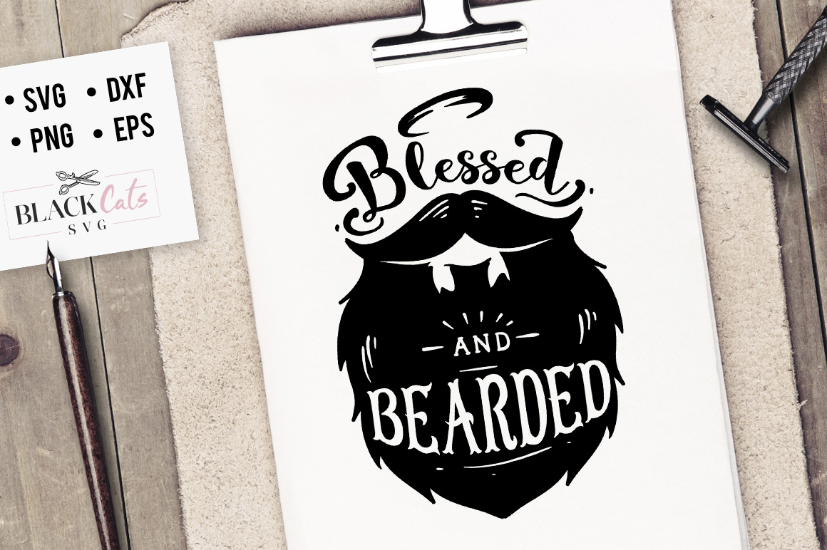 Blessed And Bearded Graphic By Blackcatsmedia Creative Fabrica