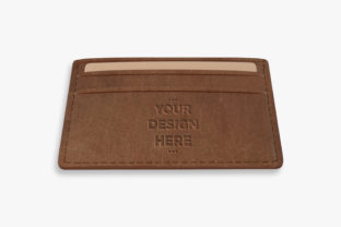 Brown Leather Wallet Mock Up Template Graphic By Suedanstock