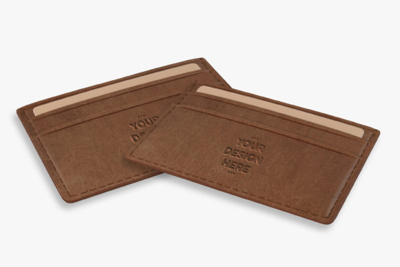 Brown Leather Wallet Mockups Template Graphic Product Mockups By nopxcreative