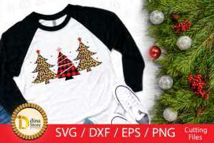 Christmas Trees Svg, Red Plaid, Tiger Graphic By dina.store4art