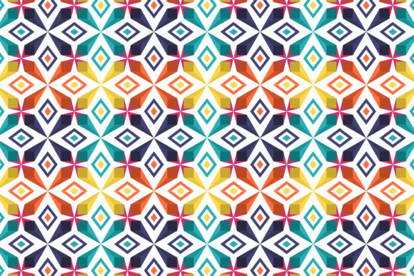 Print on Demand: Colorful Abstract Pattern Graphic Patterns By noory.shopper