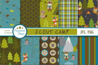 Print on Demand: Scout Camp Paper Graphic Patterns By poppymoondesign