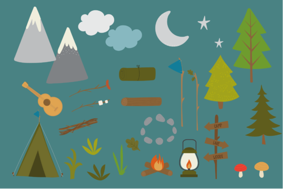 Print on Demand: Scout Camp Graphic Illustrations By poppymoondesign - Image 3