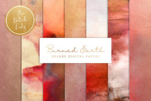 Print on Demand: Digital Backgrounds - Burned Earth Graphic Backgrounds By daphnepopuliers