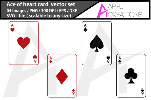 Print on Demand: Ace of Hearts Svg/ Ace of Hearts Silhou Graphic Illustrations By aparnastjp