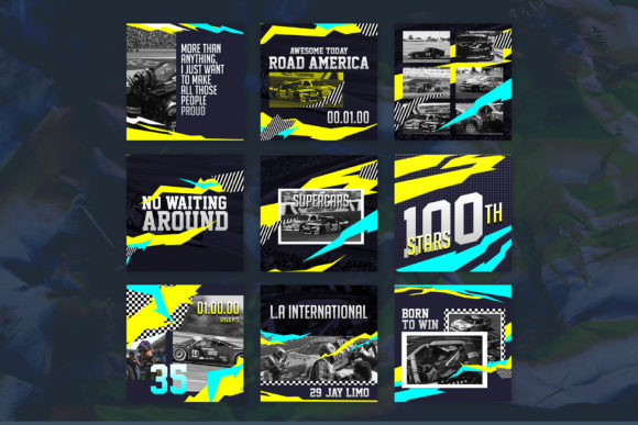Download Free Nascar Instagram Templates Grafico Por Qohhaarqhaz Creative for Cricut Explore, Silhouette and other cutting machines.